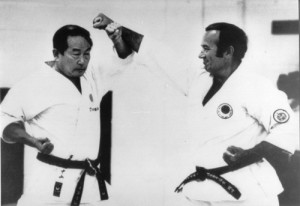 Sensei Nakajama with Sensei Safar