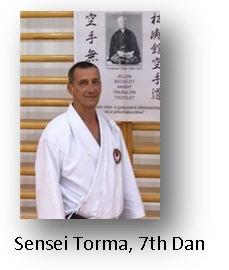 Sensei Torma, 7th Dan