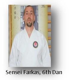 Sensei Farkas, 6th Dan